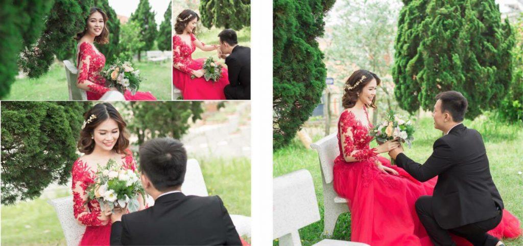 Vợ chồng mẹ Minh Thư ngày chụp ảnh cưới.