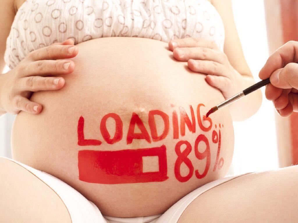 Mẹ bầu tuần 38
