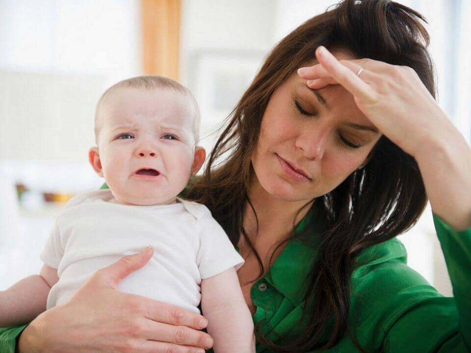 mẹ bị stress mất sữa